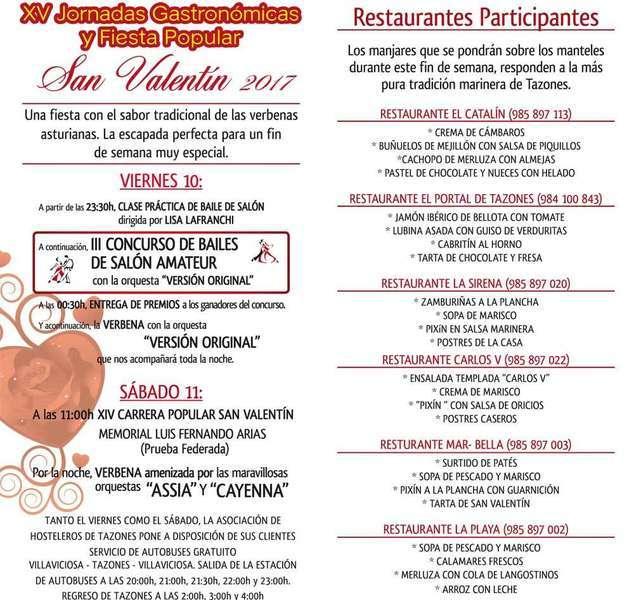 menus de san valentin en tazones, villaviciosa de asturias