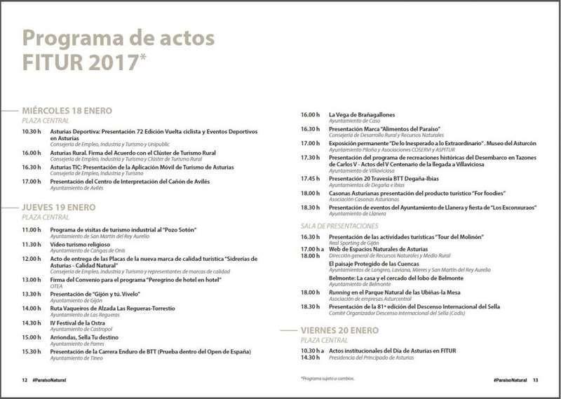 asturias en la feria de fitur 2017