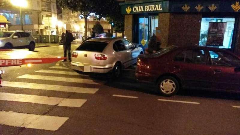 accidente de un vehículo en norena